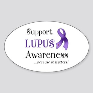 Support Lupus Awareness Sticker (Oval)