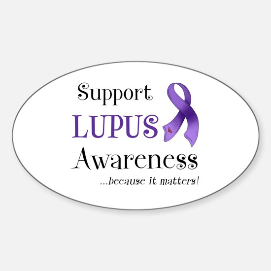 Support Lupus Awareness Sticker (Oval)