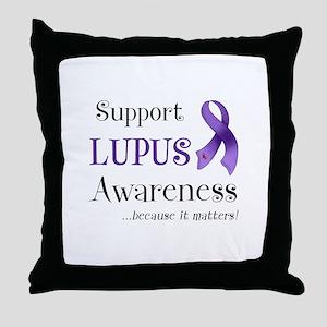 Support Lupus Awareness Throw Pillow