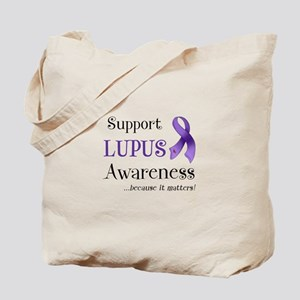 Support Lupus Awareness Tote Bag
