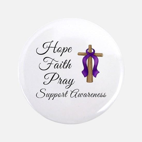 """Support Awareness - Lupus Cross 3.5"""" Button (100 p"""