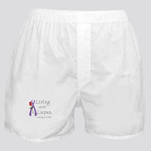 Living with Lupus One Day at a Time Boxer Shorts