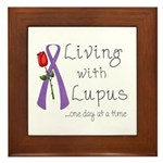 Living with Lupus One Day at a Time Framed Tile