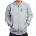 Living with Lupus One Day at a Time Zip Hoodie