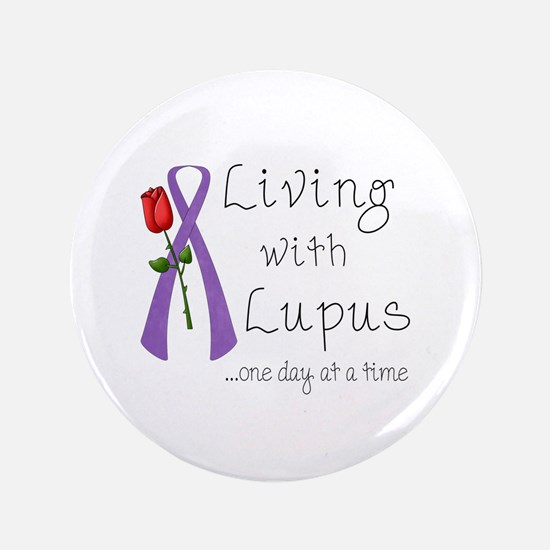 "Living with Lupus One Day at a Time 3.5"" Button (1"
