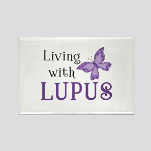 Living With Lupus Rectangle Magnet