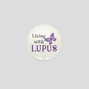 Living With Lupus Mini Button