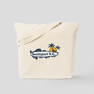 Southport NC - Surf Design Tote Bag