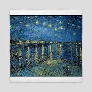 Van Gogh: Starry Night Over the Rhone Queen Duvet