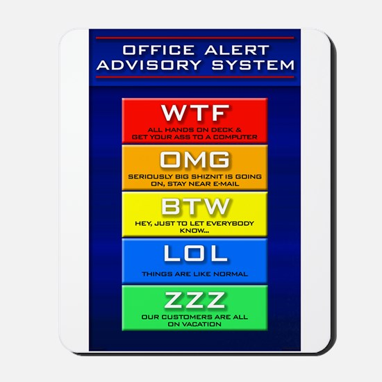 Office Alert Mousepad