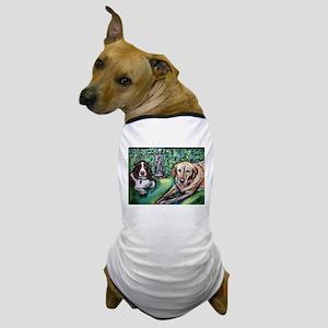 Yellow Lab w English Springer Dog T-Shirt