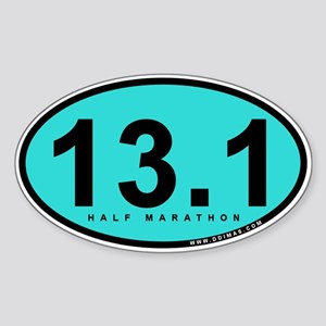 Half Marathon 13.1 Miles Sticker (Oval)
