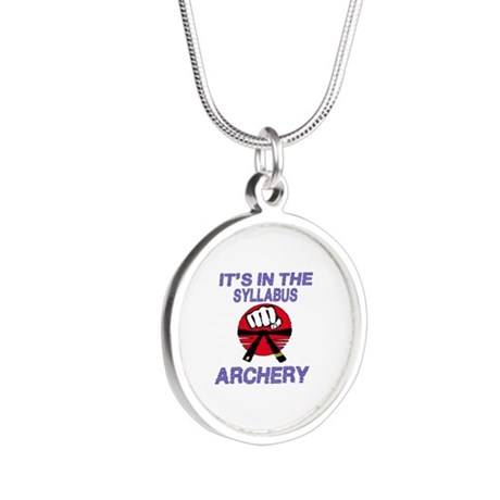 It's in the syllabus Archery Silver Round Necklace