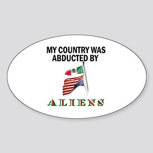 TAKE BACK YOUR COUNTRY Sticker (Oval)