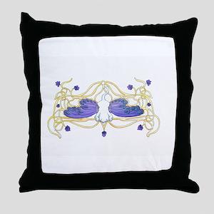 Flitter Watercolor Throw Pillow