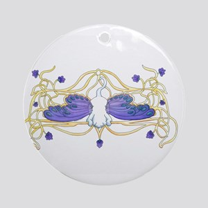 Flitter Watercolor Ornament (Round)