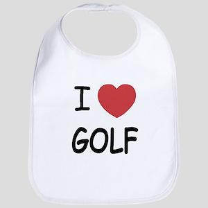 I heart golf Bib