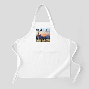 Seattle WA Skyline Graphics Sunset Apron
