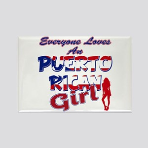 Puerto rican girl Rectangle Magnet