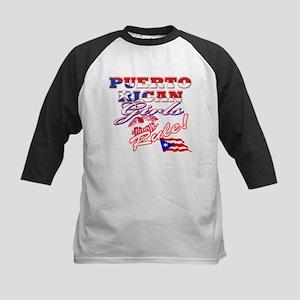 Puerto rican girl Kids Baseball Jersey
