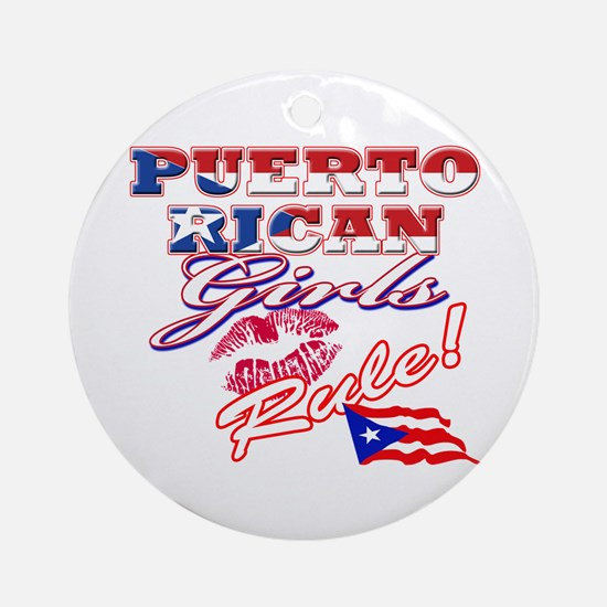 Puerto rican girl Ornament (Round)