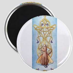 Art Nouveau Fairy Cat Magnet