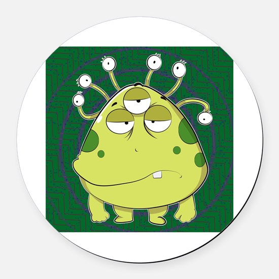 Cute Fantasy and scifi and anime Round Car Magnet