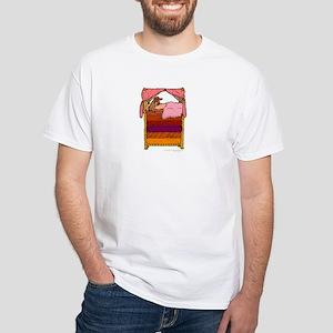 Princess & the Pea Dachshund White T-Shirt
