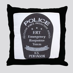 Pentagon Police ERT Throw Pillow
