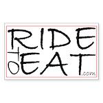 RideToEat.com Rectangle Sticker