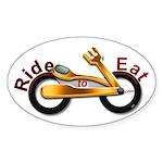 RideToEat.com Oval Sticker