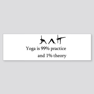Yoga Practice Sticker (Bumper)