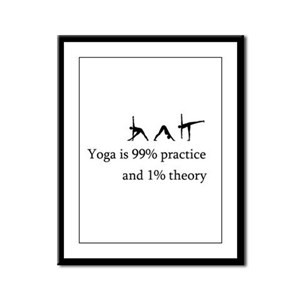 Yoga Practice Framed Panel Print