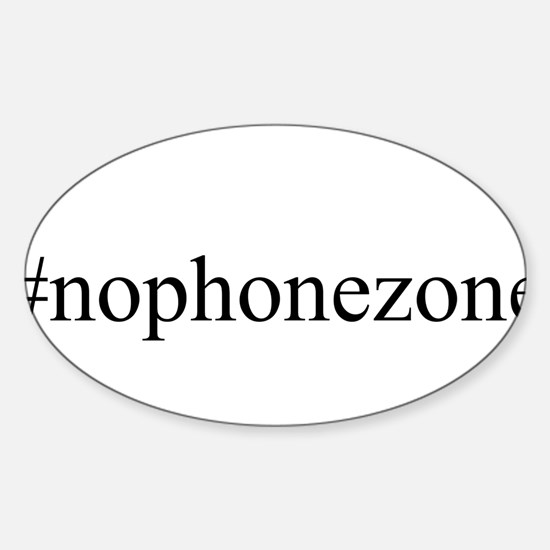 #nophonezone Sticker (Oval)