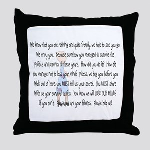 Retired Teacher Story Art Throw Pillow