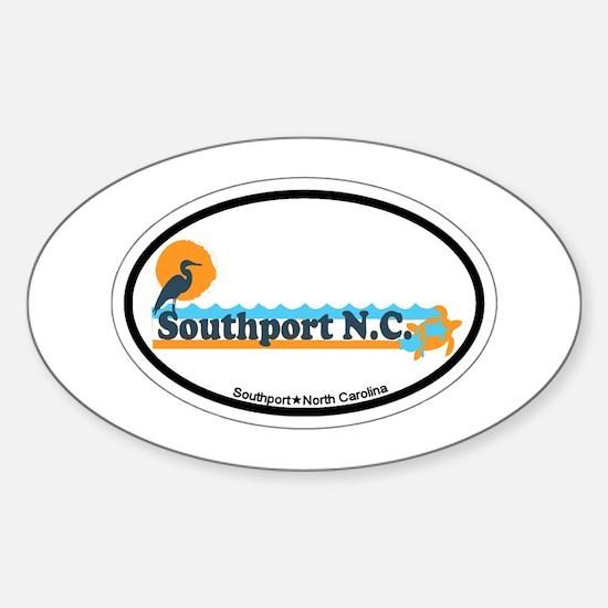 Southport NC - Beach Design Sticker (Oval)