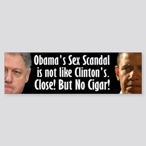 Obama Sex Scandal Sticker (Bumper)