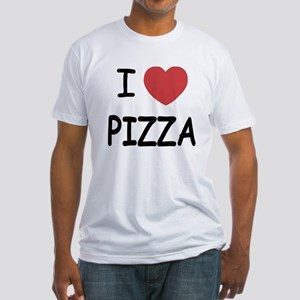 I heart pizza Fitted T-Shirt