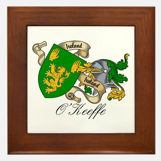 O'Keeffe Family Crest Framed Tile