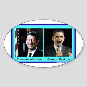 """""""Ronaldus Maximus vs. Gluteus Maximus"""" Sticker (Ov"""