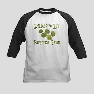 Daddy's Lil Butter Bean Kids Baseball Jersey