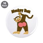 "Monkey Butt 2 3.5"" Button (10 pack)"