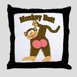 Monkey Butt 2 Throw Pillow