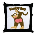 Monkey Butt 2 Throw Pillow