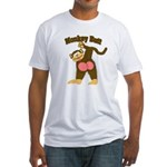 Monkey Butt 2 Fitted T-Shirt