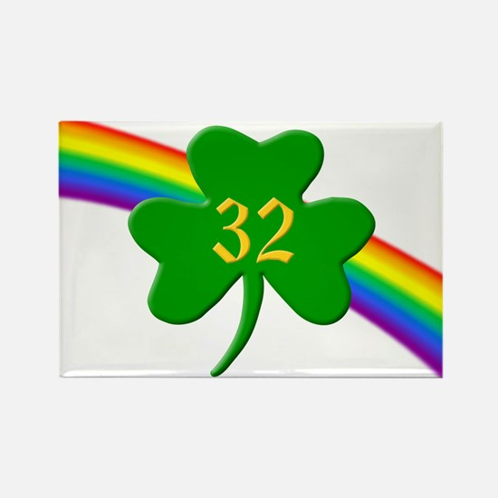 32nd Shamrock Rectangle Magnet