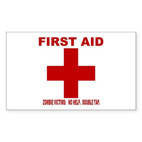 zombiefirstaid4 Sticker