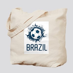 Hip Brazil Football Tote Bag