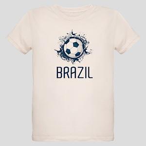Hip Brazil Football Organic Kids T-Shirt