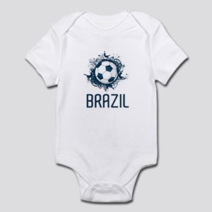 Hip Brazil Football Infant Bodysuit